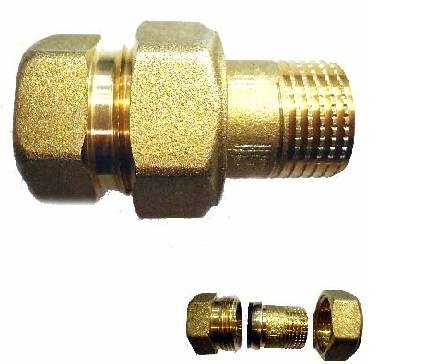 "RACORD DE UNION MF 1/2"" LATON"